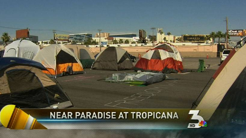 Occupy Las Vegas remains peaceful