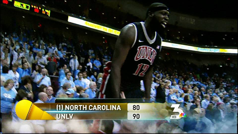UNLV shocks No. 1 North Carolina