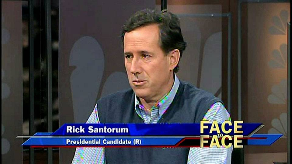 Presidential Candidate Rick Santorum on Face to Face With Jon Ralston