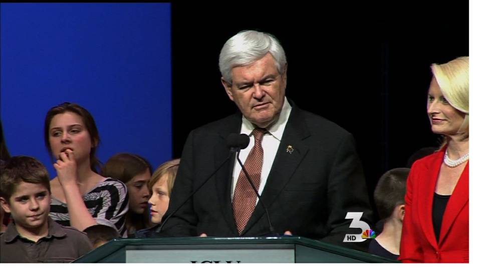 Newt rallies in Summerlin