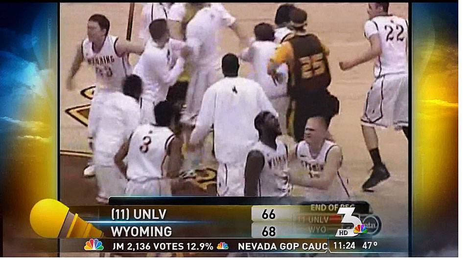 Wyoming edges UNLV, Feb. 4, 2012