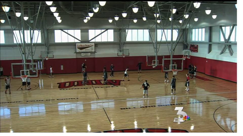 Rebels practice in new center