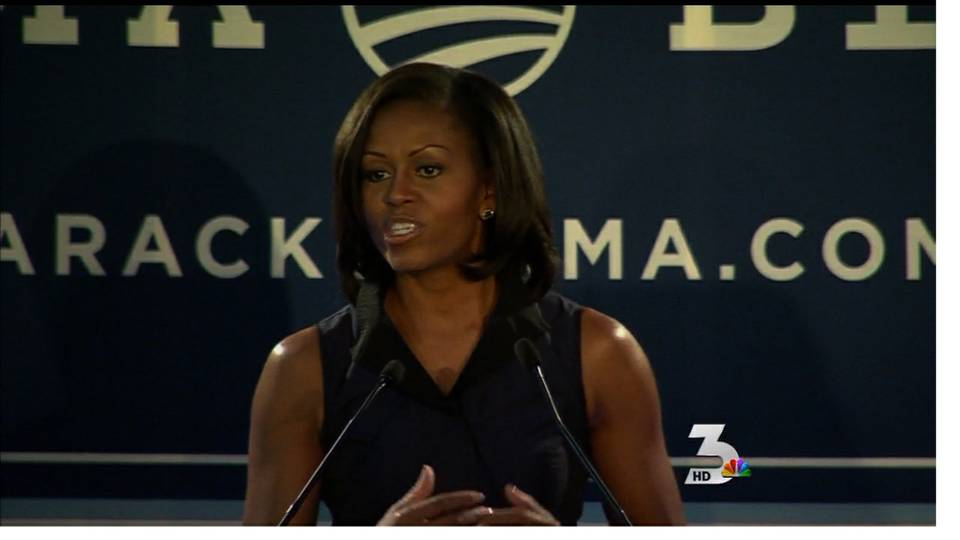First lady makes campaign stop