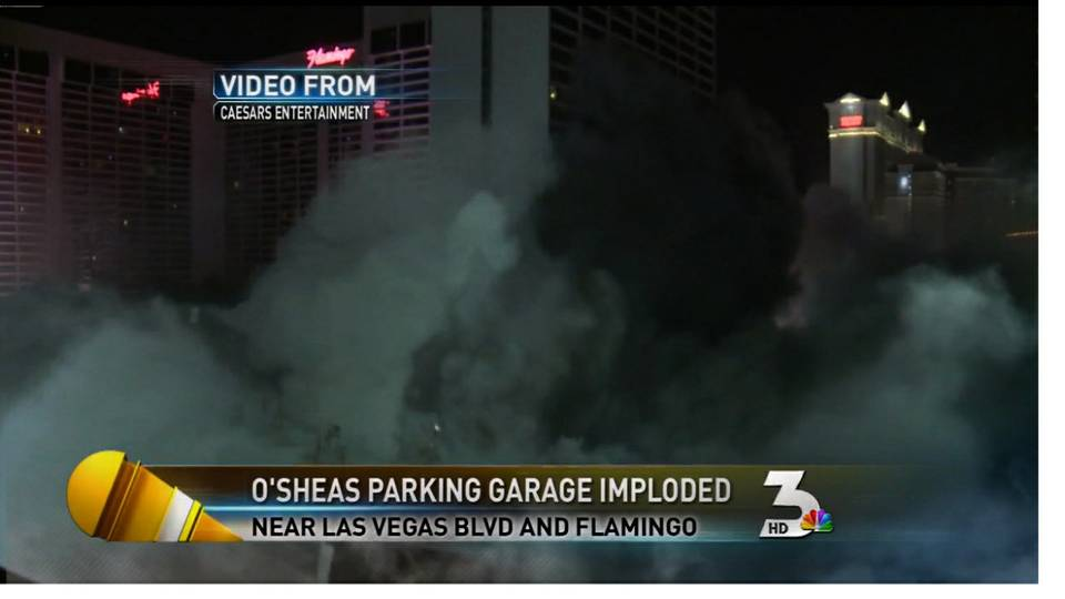 Strip parking garage imploded