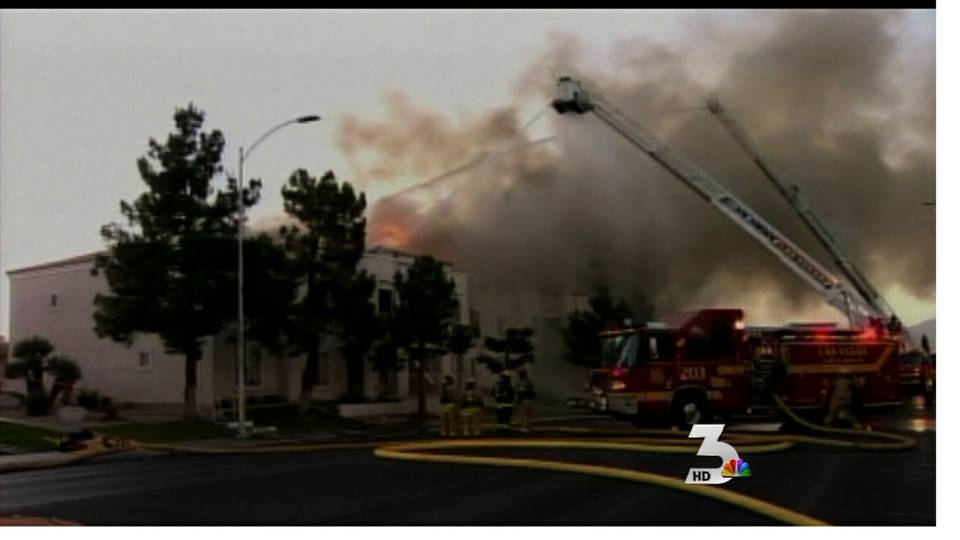 Firefighters battle blaze in northwest valley