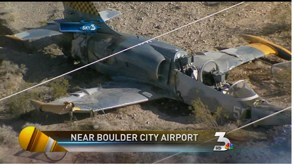 Jet crashes near Boulder City