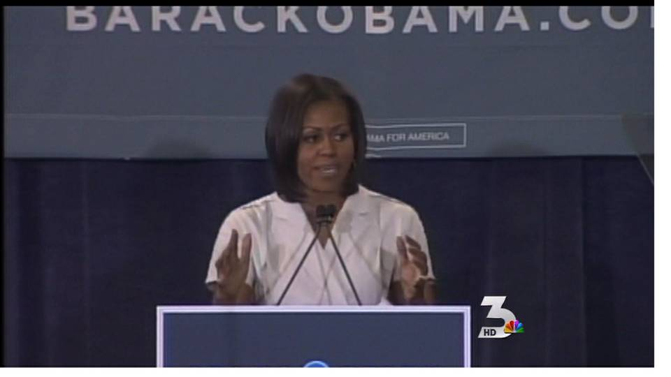 First lady Michelle Obama rallies supporters