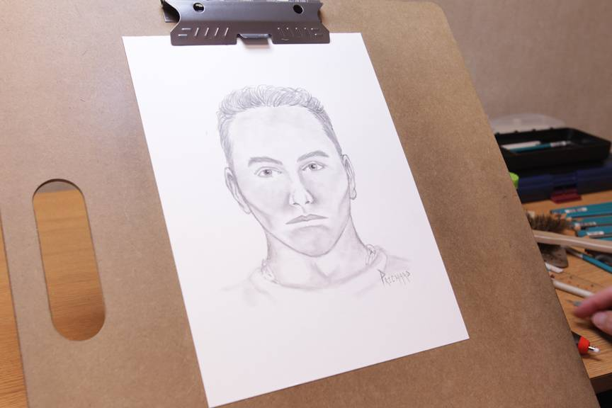 Mock Suspect Sketch by Metro Artist