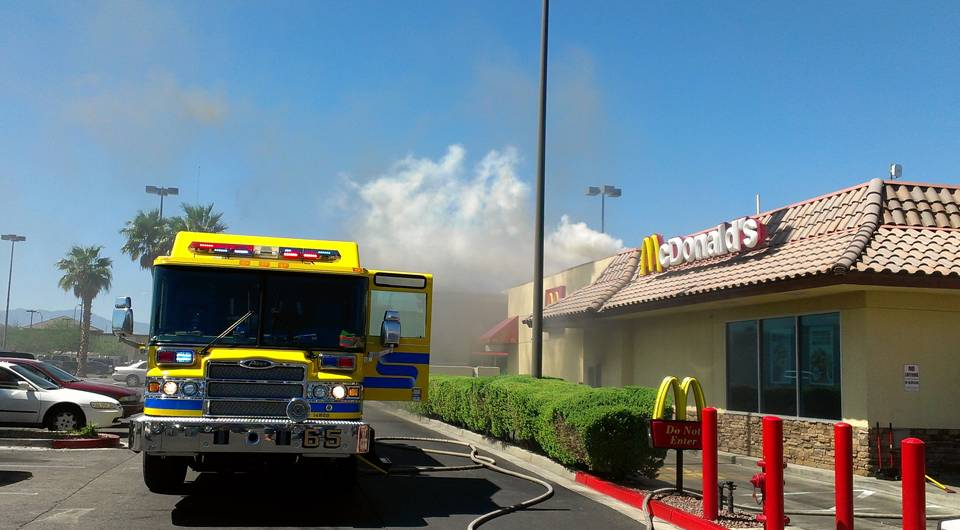 Mcdonald\'s Grease Fire