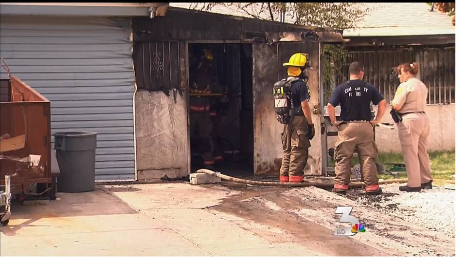 Children injured in home fire