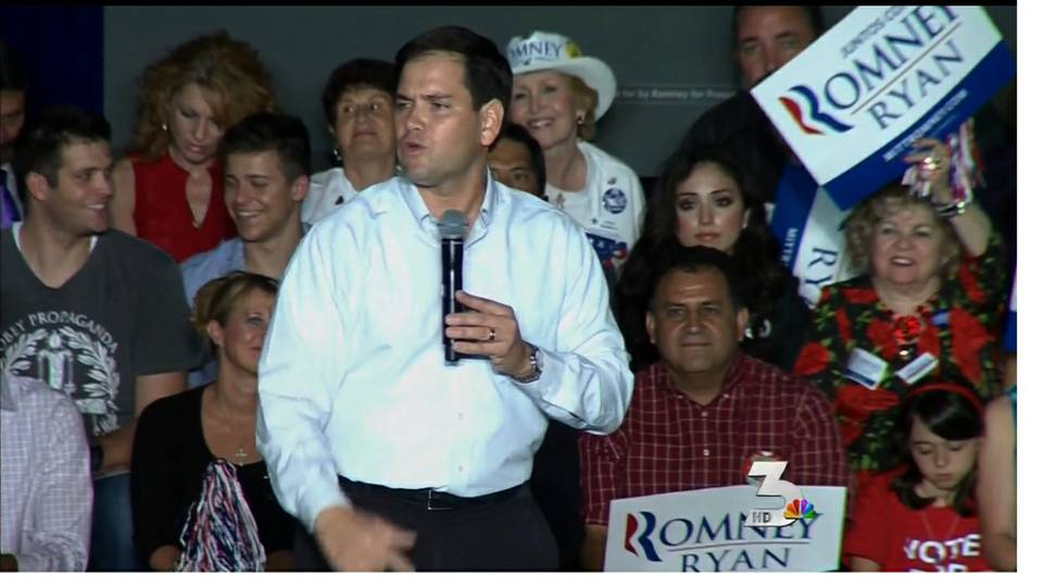 Florida Sen. Marco Rubio campaigns for Romney in Las Vegas