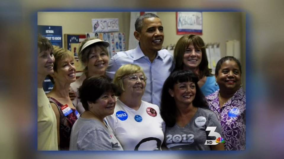 Obama visits local campaign office