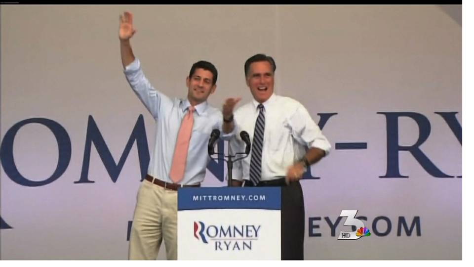 Mitt Romney and Paul Ryan rally Republicans at Henderson Pavillion