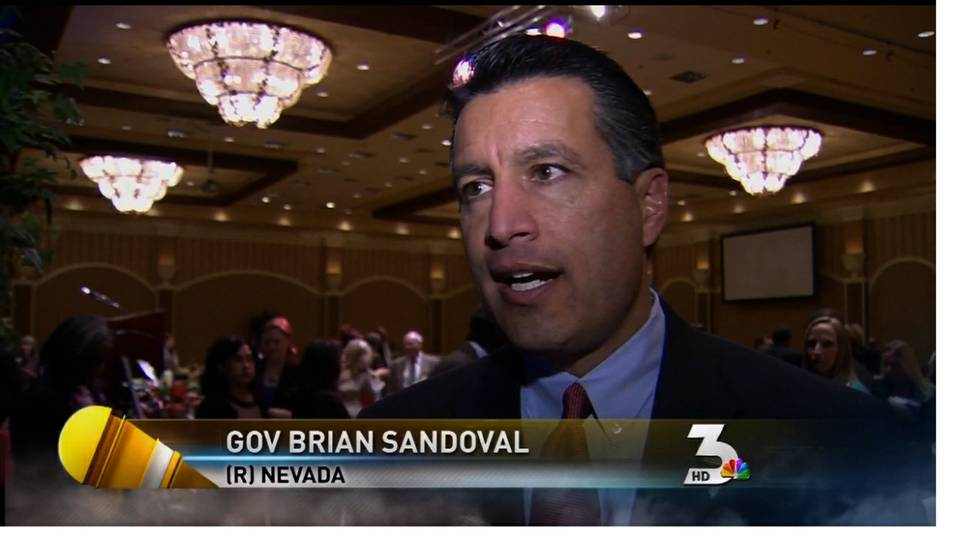 Gov. Brian Sandoval helps school district file grant application