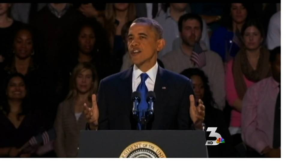 Barack Obama elected to second term