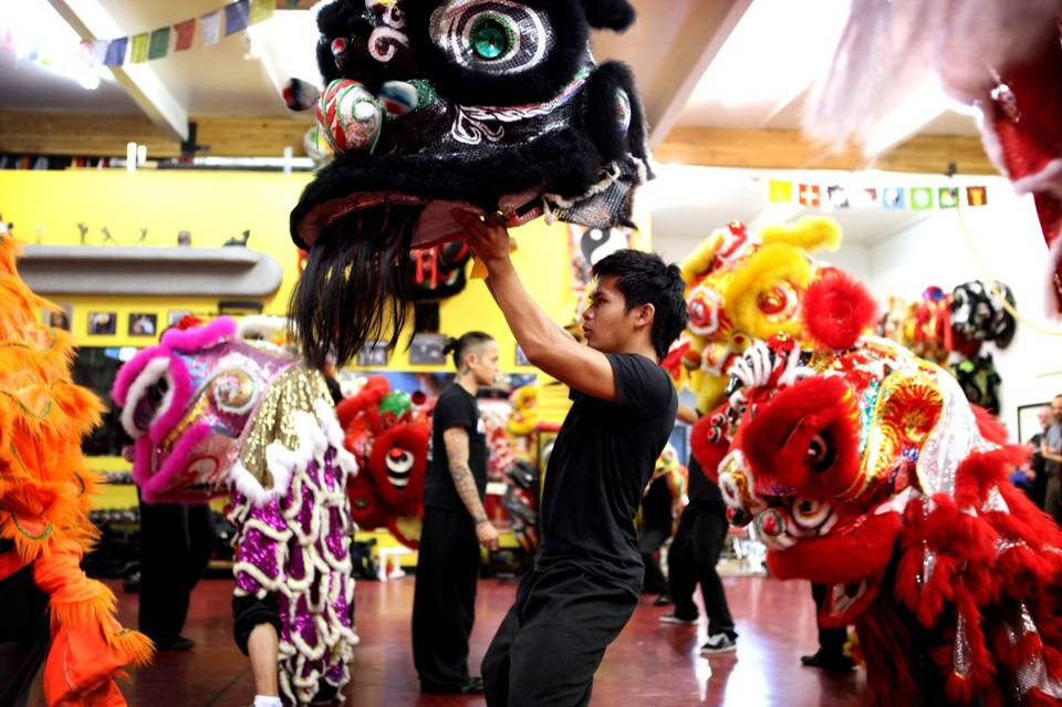 Lion Dance Practice at the Lohan School of Shaolin