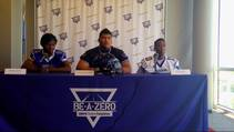 Las Vegas Sun sports editor Ray Brewer talks to key players from Desert Pines High School's football team ahead of their 2014 season.