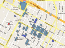 Downtown property map