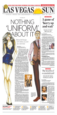 Frontpage of Las Vegas Sun newspaper on July 23, 2014
