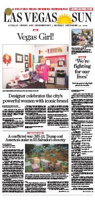 Frontpage of Las Vegas Sun newspaper on December 17, 2018