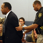 O.J. Simpson was found guilty on 12 counts and sentenced to at least nine years in prison.